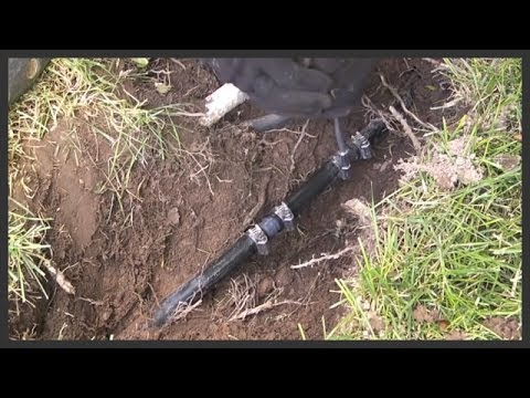 How To Repair Polyethylene Black Plastic Sprinkler Pipe