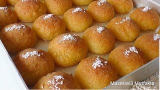 10 dakika İRMİKLİ HİRA Tatlısi|Tatlı Tarifleri|Şerbetli tatlı #Masmavi3Mutfakta