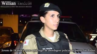 Comando 190 - Soldado Tais/PMMG, prisão jovem que fugiu de abordagem em Araxá/MG