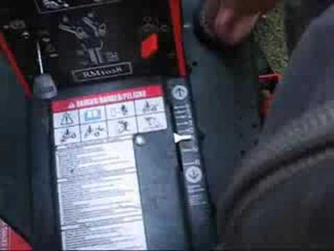hqdefault howto operate an ariens rear engine rider lawnmower youtube  at bakdesigns.co