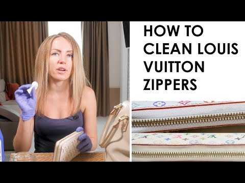 How to Clean Louis Vuitton Zippers on White Multicolor Items