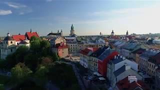 Lublin z lotu ptaka 4k, 2017