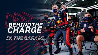 Behind The Charge In The Red Bull Racing Garage