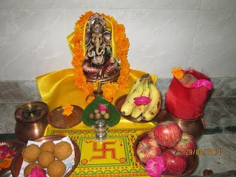 Lord ganesha chaturthi puja askganesha accurate for How to make decorations for ganesh chaturthi at home