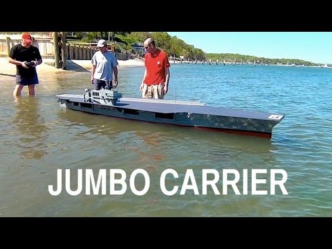 Jumbo R/C Aircraft Carrier: Launching the Behemoth
