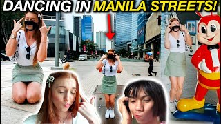 British Girl Does IT REALLY HURTS Mimiyuuuh Dance Challenge in Manila Streets!