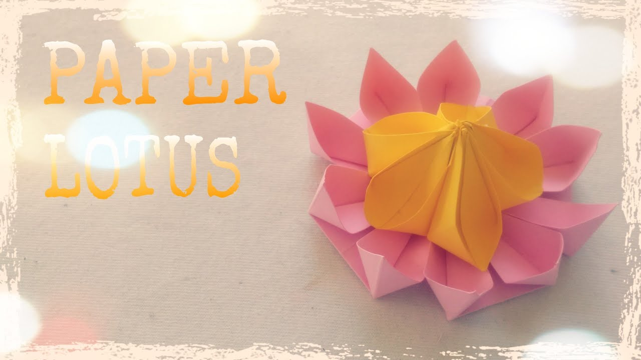 origami lotus flower tutorial origami easy youtube