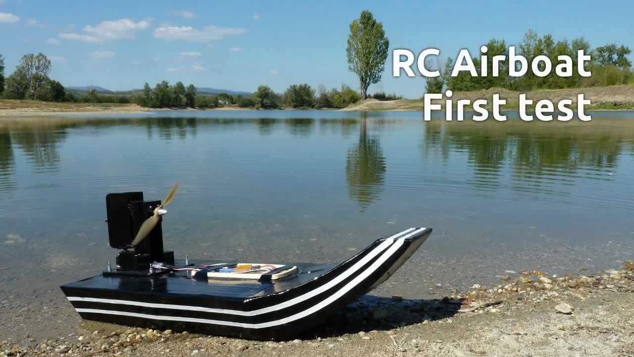 Home Made Rc Airboat V1 0 First Test Youtube