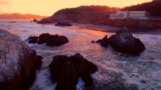 Point Lobos, San Francisco - Early Sunrise with DJI Inspire 1