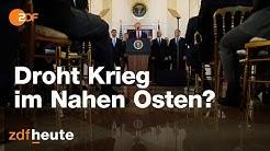 USA-Iran-Konflikt: Droht Krieg im Nahen Osten? | ZDFspezial vom 08.01.2020