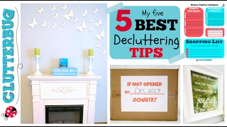 My 5 Best Decluttering Tips   Get A Clutter Free Home