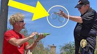 ANGRY SECURITY GUARD BUSTS ME!!! (Best POLICE PRANKS!) - Magic Trolling 2019