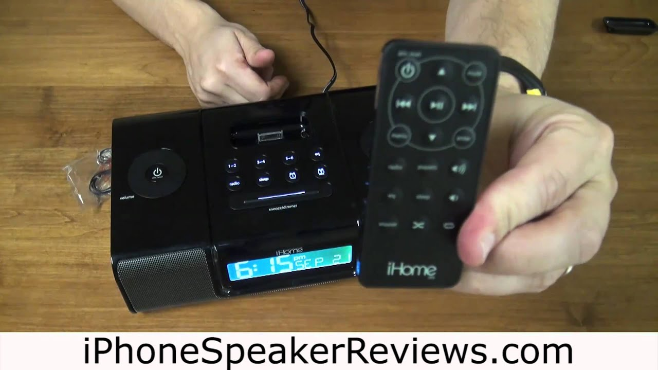 ihome ip9 iphone alarm clock review youtube rh youtube com ihome ip9br ihome ip90