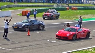 Ferrari 488 GTB  -vs-  Porsche 911 Turbo S  -vs-  Nissan GT-R