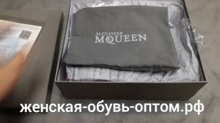 Бордовые женские ботинки Alexander McQueen. Обзор модели