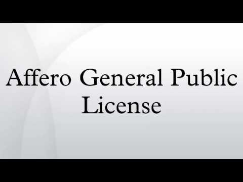 Affero General Public License