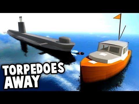 HUGE Submarine Torpedoes SHIP!!!  Submarine Surfacing & Sinking!  (Disassembly 3d Gameplay)