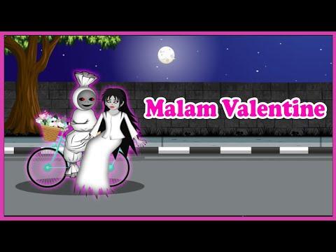 Malam Valentine Pocong dan kuntilanak Pacaran Naik Sepeda - Kartun Hantu Lucu