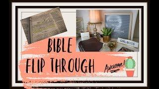 BIBLE FLIP THROUGH | BIBLE TOUR