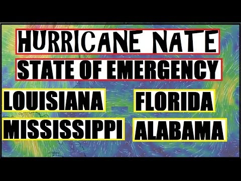 *BREAKING* Hurricane NATE STATE OF EMERGENCY And Evacuations Begin!