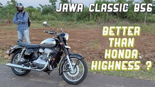 Jawa Classic BS6 Review - Better Than Honda Highness ?