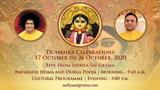 19 Oct 2020, Dussehra Celebrations - Live From Muddenahalli || Day 03, Morning ||