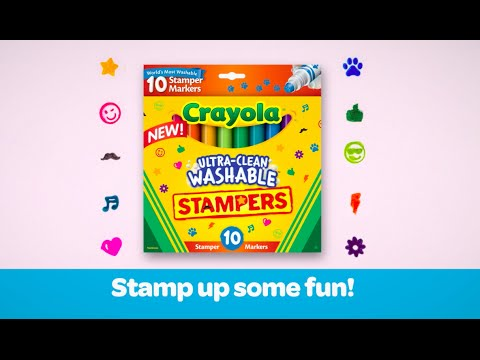 Crayola Ultra Clean Washable Stamper Marker Demo 2015 Youtube