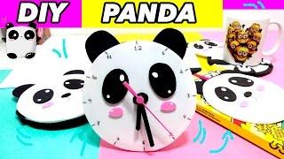 DIY Kawaii Panda -  5 Ideias com Material Reciclável -  Capinha para Celular e mais..