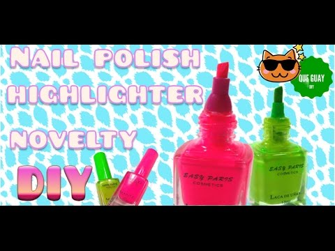 DIY craft Nail polish bottle highlighter.How to make  high styler marker - Cool pen Easy craft idea