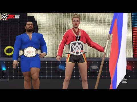 WWE 2K16 PC Mods Gimmick Swap: The Russian Brute Lana w/ The Ravishing Bulgarian Rusev!