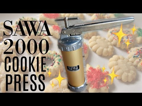Vintage SAWA 2000 Swedish Cookie Press & Sesame Street Cookie Maker | Does it Work?