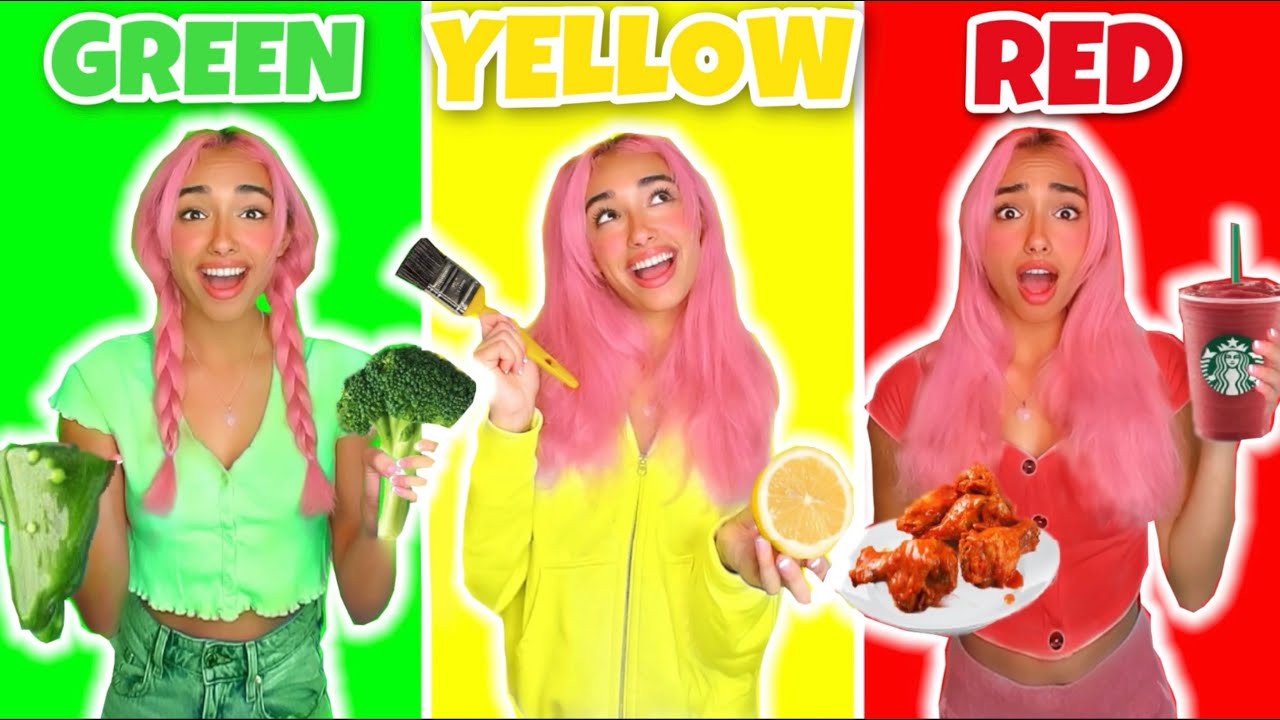 EATING ONLY ONE COLOR FOOD FOR 24 HOURS!! *food challenge*