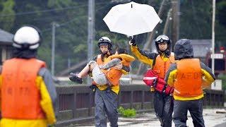 На Японию обрушился сильнейший ливень. Массовая эвакуация в Японии и последствия стихии