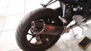 Yamaha R25 Knalpot Racing Yoshimura R77 Carbon Dual Hole Fulsystem (Motoralap Exhaust)