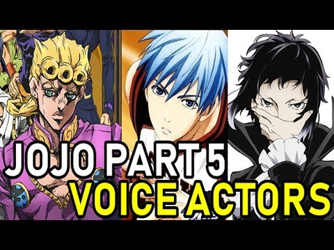 Jojo Part 5 VOICE ACTORS (preview/teaser)