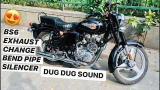 BS6 Bend Pipe Change Standard 350 EFI | Sound Modification | Js Sabharwal
