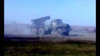 Romanian BM-21 Grad rocket launcher