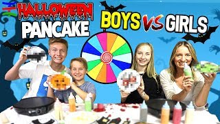 Grusel Pancake Challenge🎃 👻 Halloween Edition 😁 TipTapTube Family 👨👩👦👦