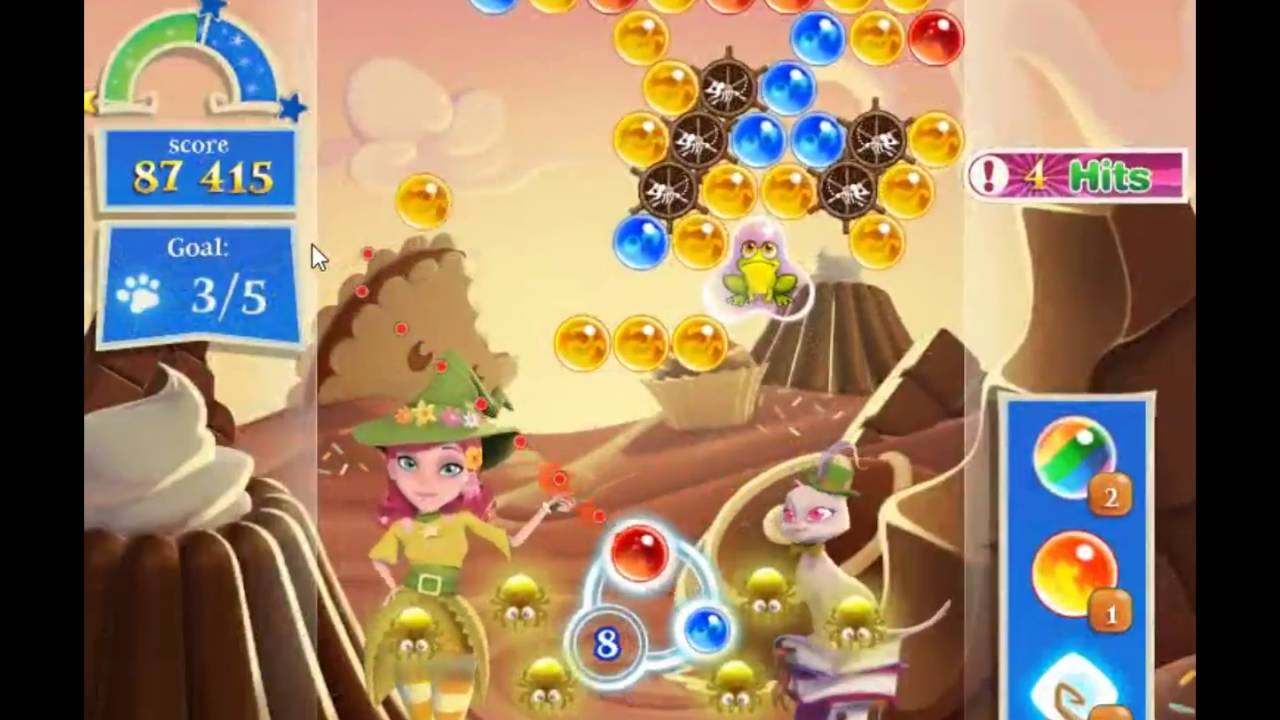 Bubble Witch Saga 2 Level 1021 - NO BOOSTERS