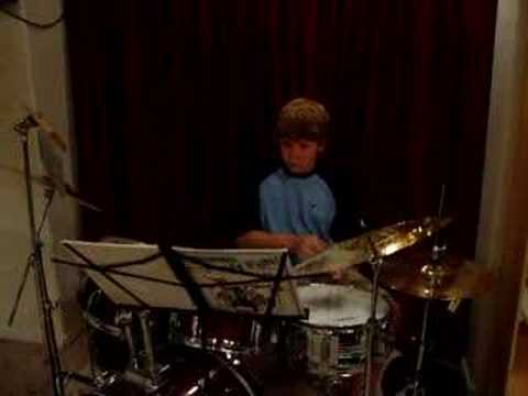 Adam Jamming on the Drums