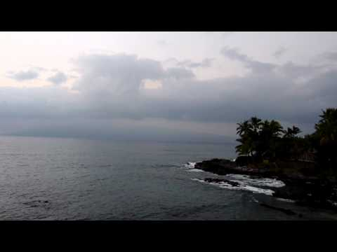 Beach scenery and sounds - Kahana Sunset Resort Maui (Dusk #1)