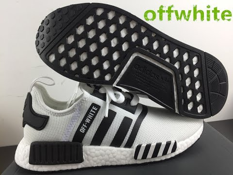 new style ce7e1 eca7f OFF WHITE X ADIDAS NMD R1 REAL BOOST UNBOXNG BY TRADELICKS.CN