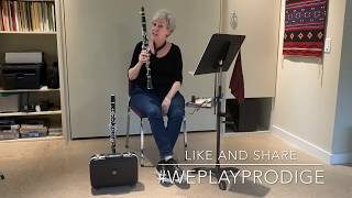 Paula Corley and the Prodige student clarinet