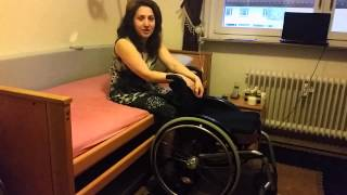 complete paraplegic woman gets up on her own for the first time in 15 years
