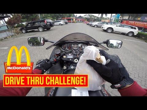 McDONALD'S DRIVE THRU CHALLENGE | SUZUKI HAYABUSA