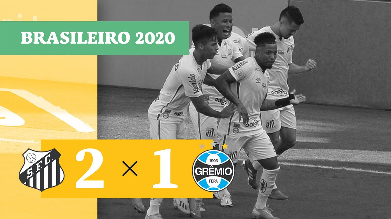 Сантос  2-1  Гремио видео