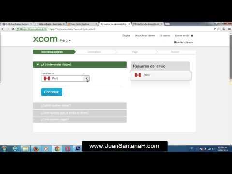 Como enviar dinero por internet a cualquier parte del mundo con xoom.com