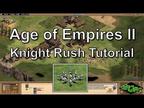 Aoe2 Tutorial: Fast Castle Age, Knight Rush Build, Economy Boom