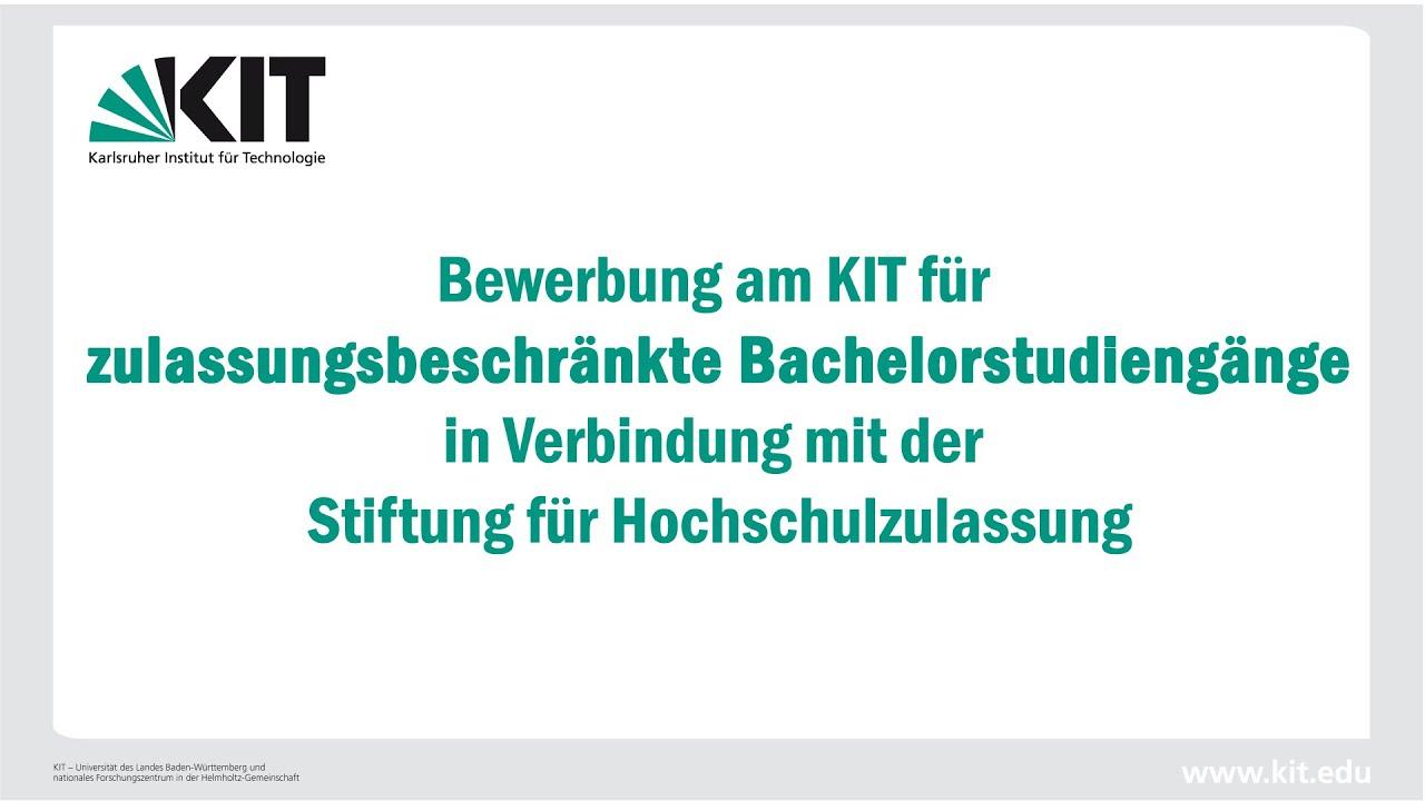 bewerbung am kit fr zulassungsbeschrnkte bachelorstudiengnge ws 201516 - Bewerbung 2015