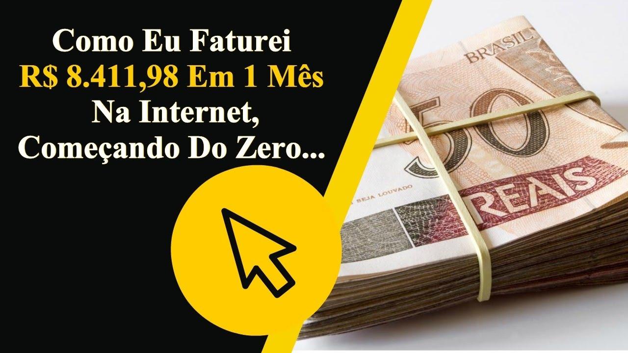 Como ganhar dinheiro na internet investindo 50 reais - YouTube